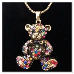 Antique Look Bear Necklace NEW 🐻🐻🐻
